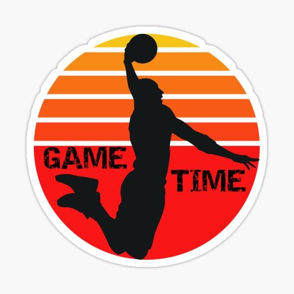 Basketball, Game Time Basketball, Basketball Gift Sticker