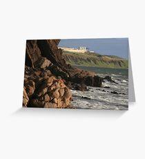 Hallett Cove, Rocky coastline cliffs, South Australia Greeting Card