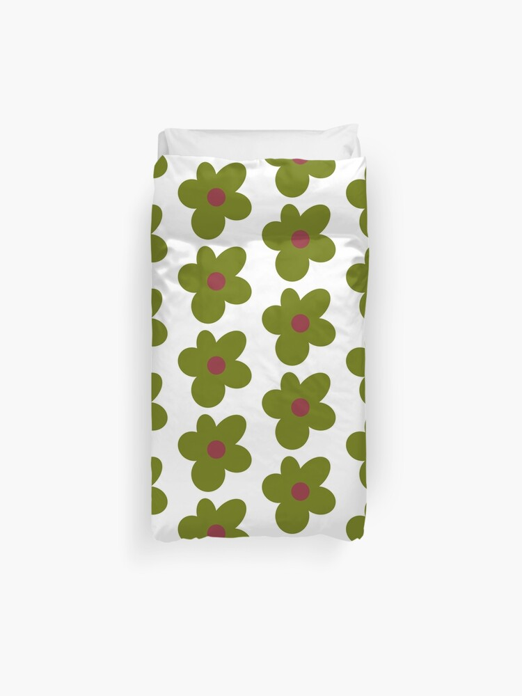 Golf Le Fleur Flower Green Duvet Cover By Cheetomask Redbubble