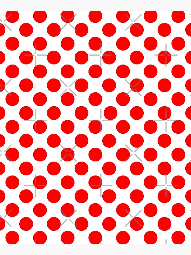 White & Red Polka Dots by Orikall by Orikall