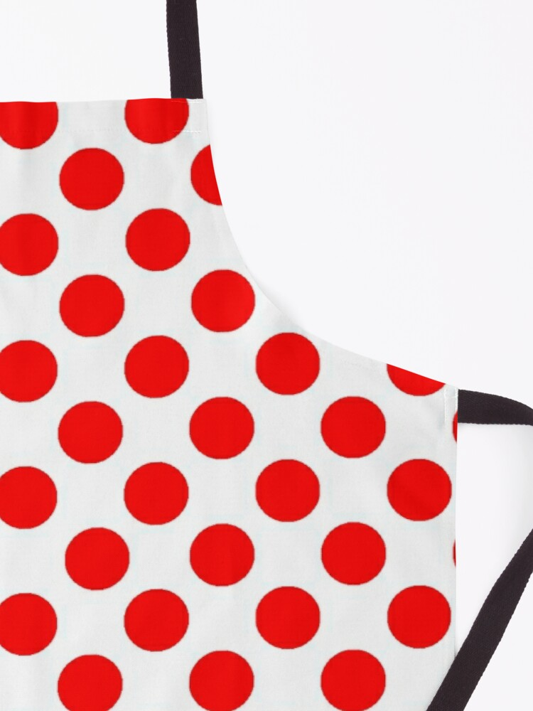 Alternate view of White & Red Polka Dots by Orikall Apron