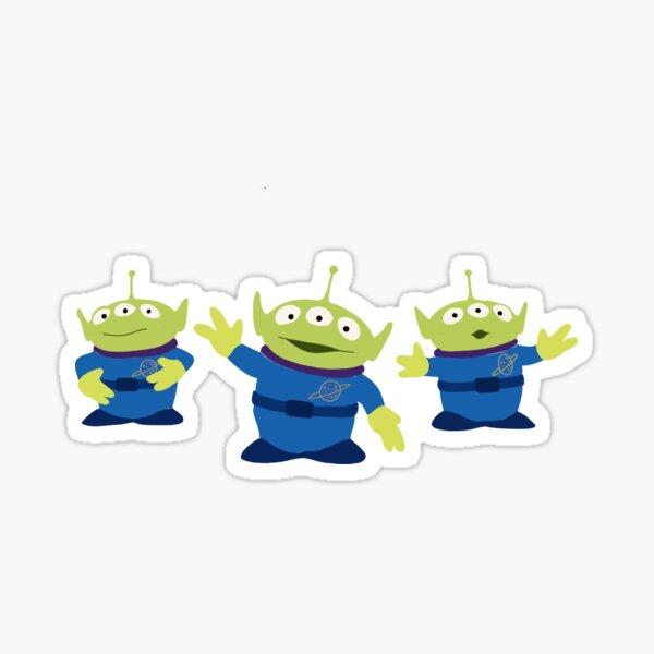 extraterrestres verdes Pegatina