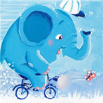 Cycling - Rondy the Elephant on his bike by oksancia