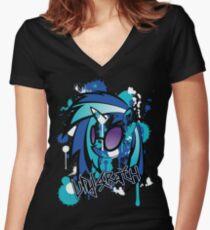 vinyl pony  Women's Fitted V-Neck T-Shirt