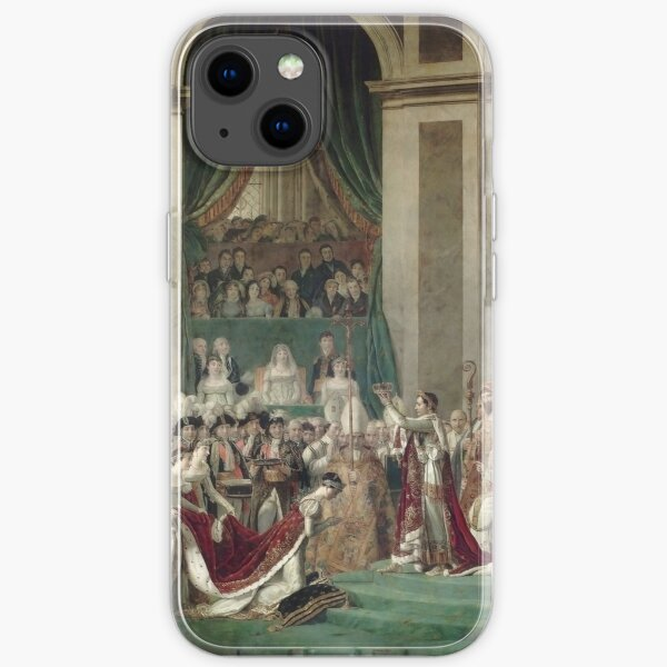 The Coronation of Napoleon and Josephine - Jacques-Louis David iPhone Soft Case