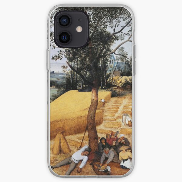 The Harvesters (1565) by Pieter Bruegel the Elder iPhone Soft Case