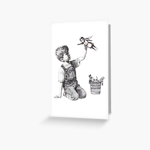 Game Changer - Banksy Graffiti Greeting Card