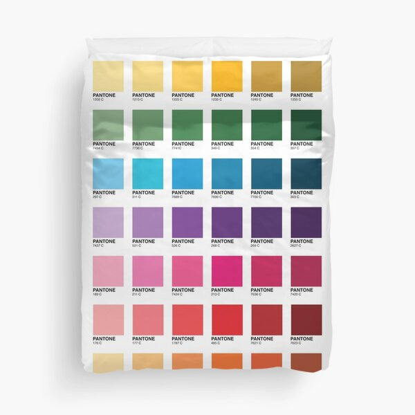Shades of Pantone Colors Duvet Cover