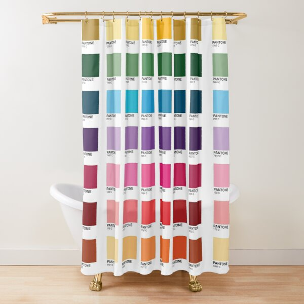 Shades of Pantone Colors Shower Curtain