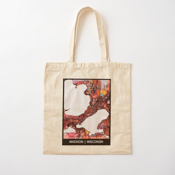 Madison, WI Cotton Tote Bag