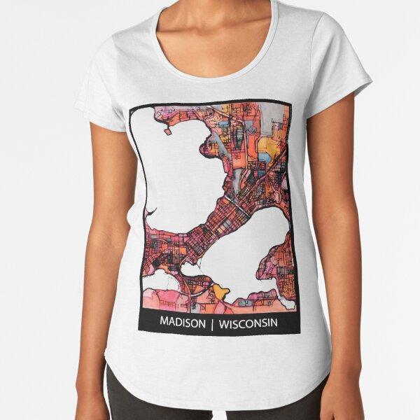 Madison, WI Premium Scoop T-Shirt