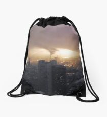Partly sunny in Frankfurt Drawstring Bag