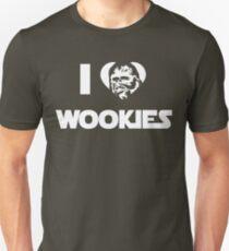I <3 Wookies Graphic - White ink Unisex T-Shirt