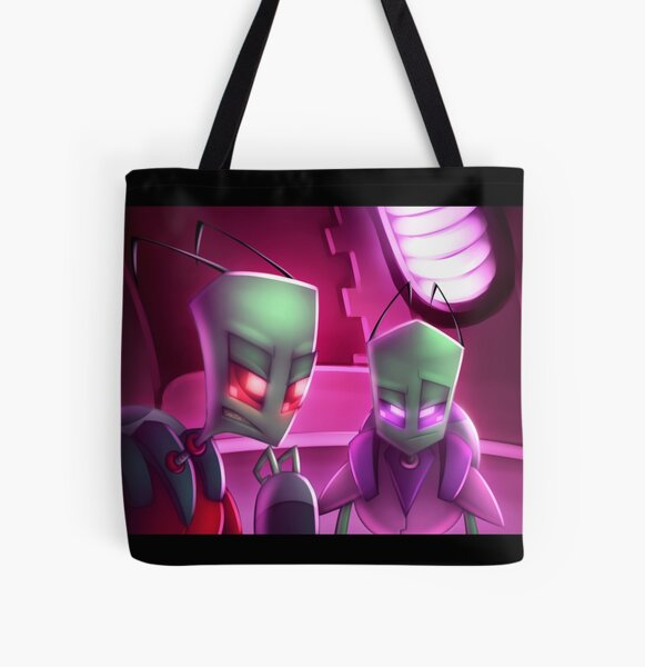 Invader Zim Fan Art - Almighty Tallest Red & Purple Portrait All Over Print Tote Bag
