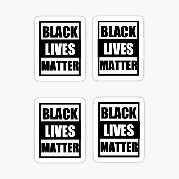 BLACK LIVES MATTER STICKERS Sticker