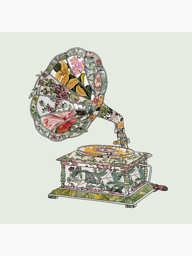 Seeing Sound Vintage Botanical by BiancaGreen