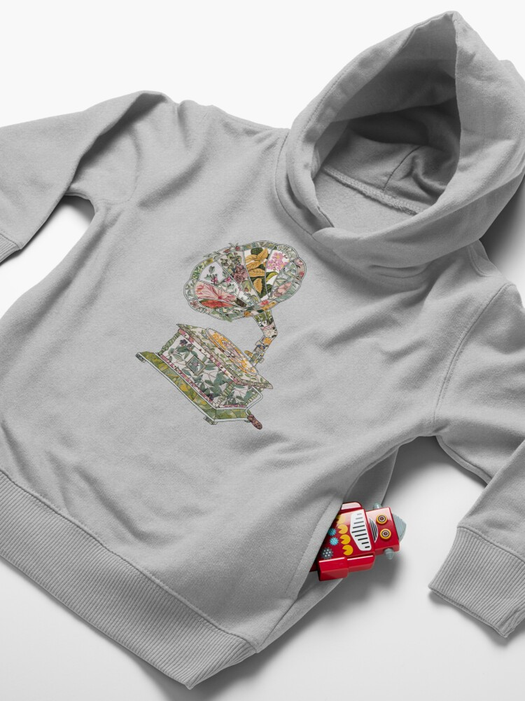 Alternate view of Seeing Sound Vintage Botanical Toddler Pullover Hoodie