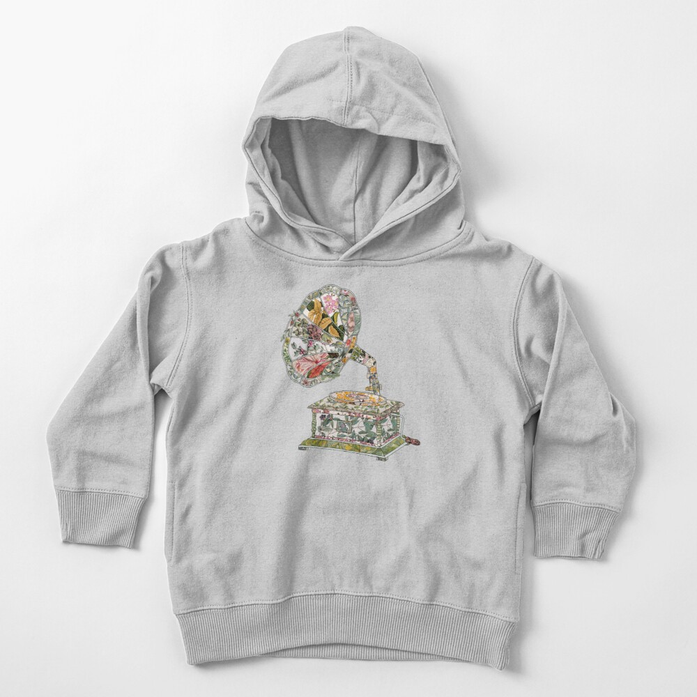 Seeing Sound Vintage Botanical Toddler Pullover Hoodie