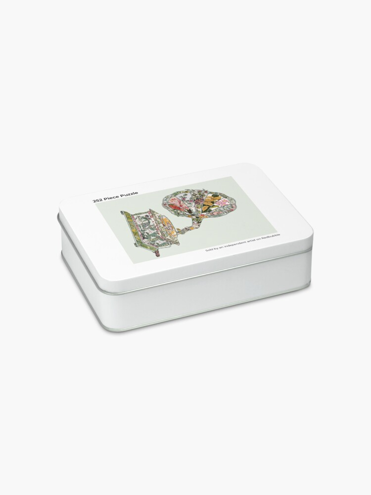 Alternate view of Seeing Sound Vintage Botanical Jigsaw Puzzle
