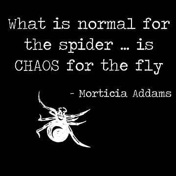 Spider theory according to Morticia Addams by animatorgurl