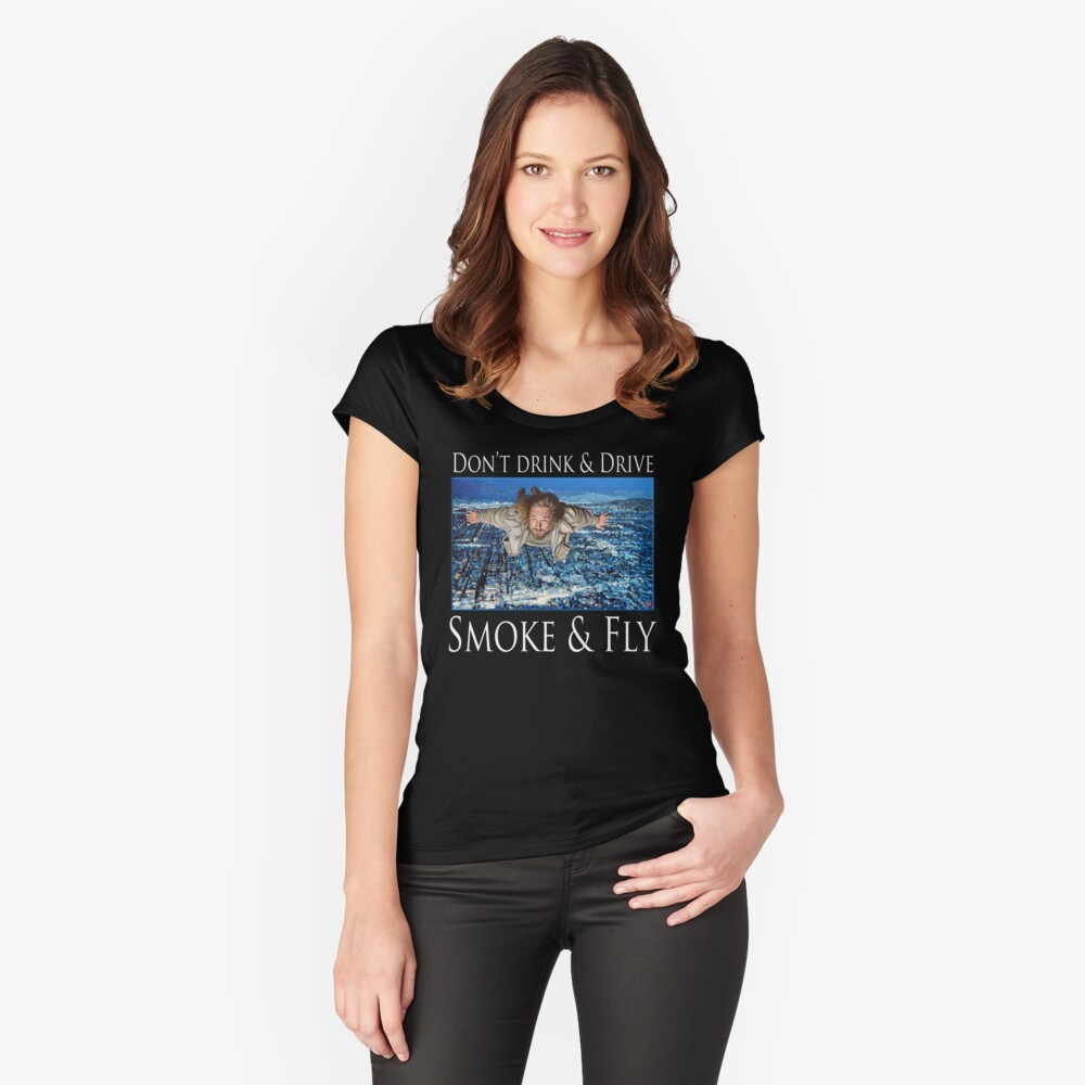 Smoke and Fly Fitted Scoop T-Shirt