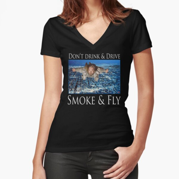Smoke and Fly Fitted V-Neck T-Shirt
