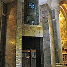 Inside the Rosary Basilica, Lourdes by Graham Taylor