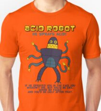 Acid robot - he sprays acid! -- colour Unisex T-Shirt