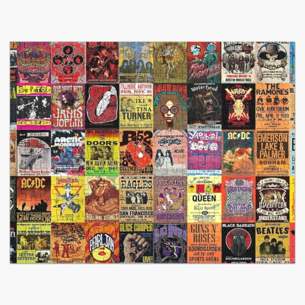 Rock Band Posters Jigsaw Puzzle