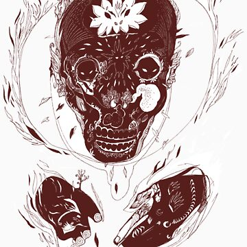 skull on fire by fredlevy-hadida