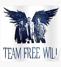 Team Free Will in BLUE Poster