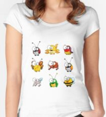 Cartoon insects Women's Fitted Scoop T-Shirt