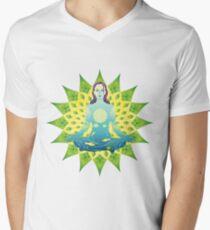 Young woman practicing meditation 4 T-Shirt