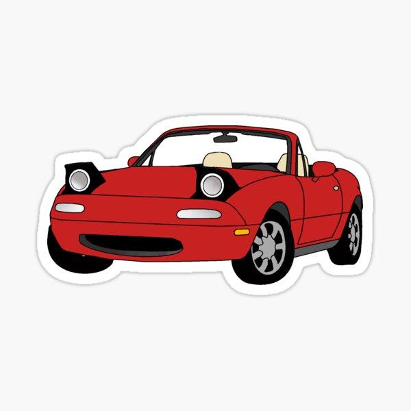 RED MIATA Sticker