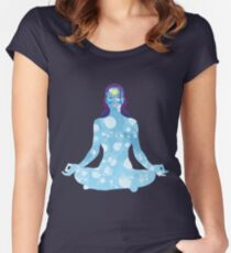 Young woman practicing meditation 6 Women's Fitted Scoop T-Shirt