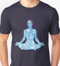 Young woman practicing meditation 6 T-Shirt