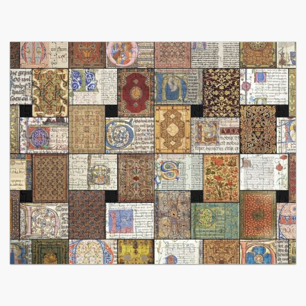 Illuminated Manuscript Jigsaw Puzzle