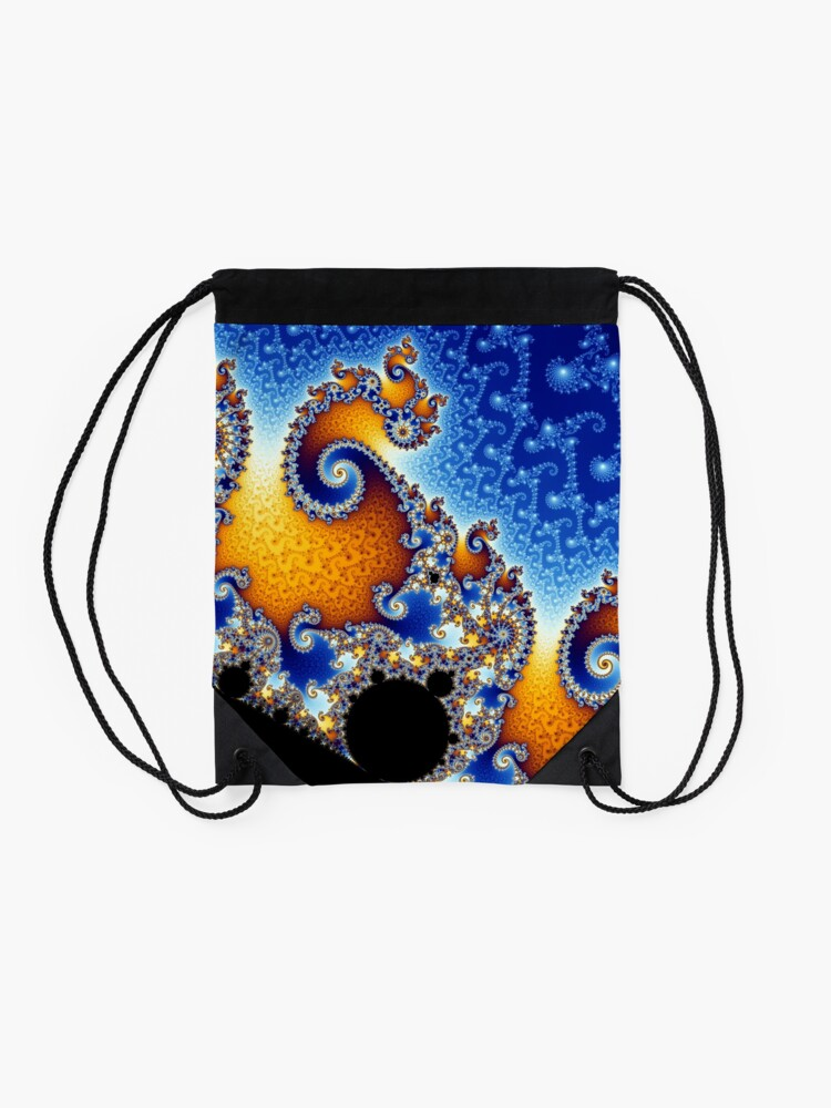 Alternate view of Mandelbrot set Drawstring Bag