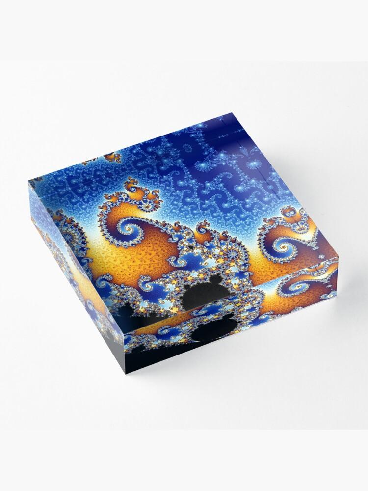 Alternate view of Mandelbrot set Acrylic Block