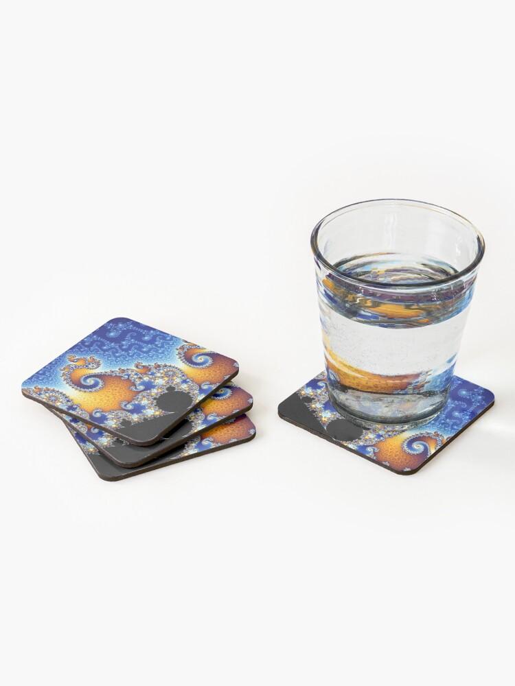 Alternate view of Mandelbrot set Coasters (Set of 4)