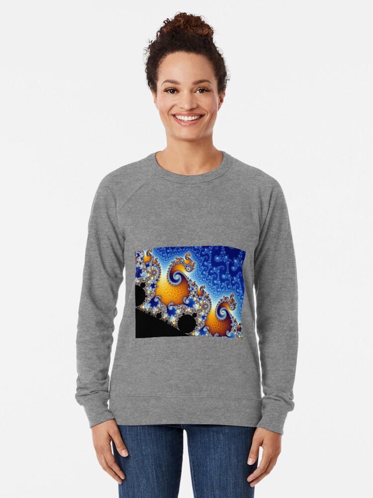 Alternate view of Mandelbrot set Lightweight Sweatshirt