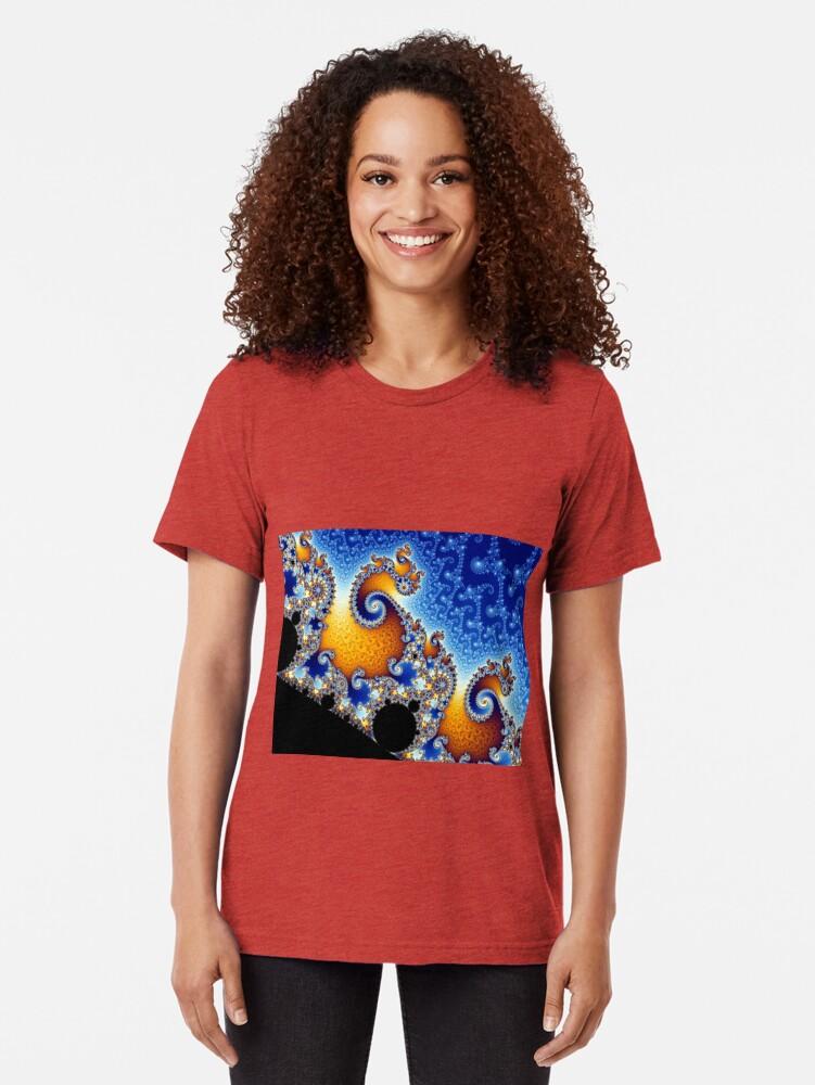 Alternate view of Mandelbrot set Tri-blend T-Shirt