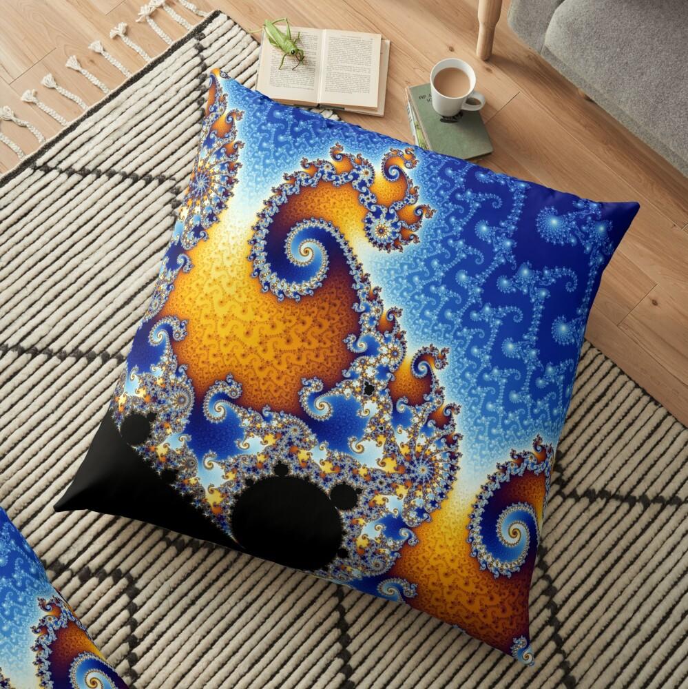 Mandelbrot set Floor Pillow