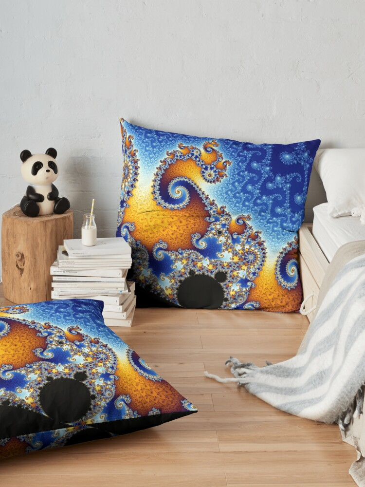 Alternate view of Mandelbrot set Floor Pillow