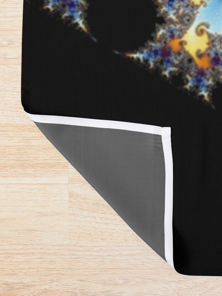 Alternate view of Mandelbrot set Shower Curtain