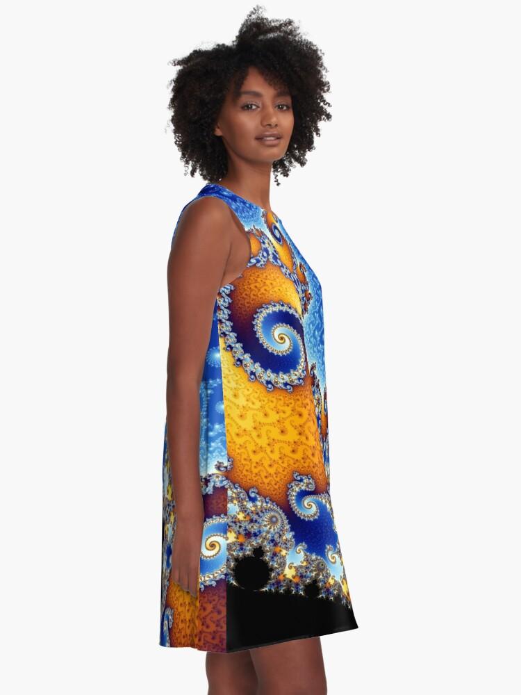 Alternate view of Mandelbrot set A-Line Dress