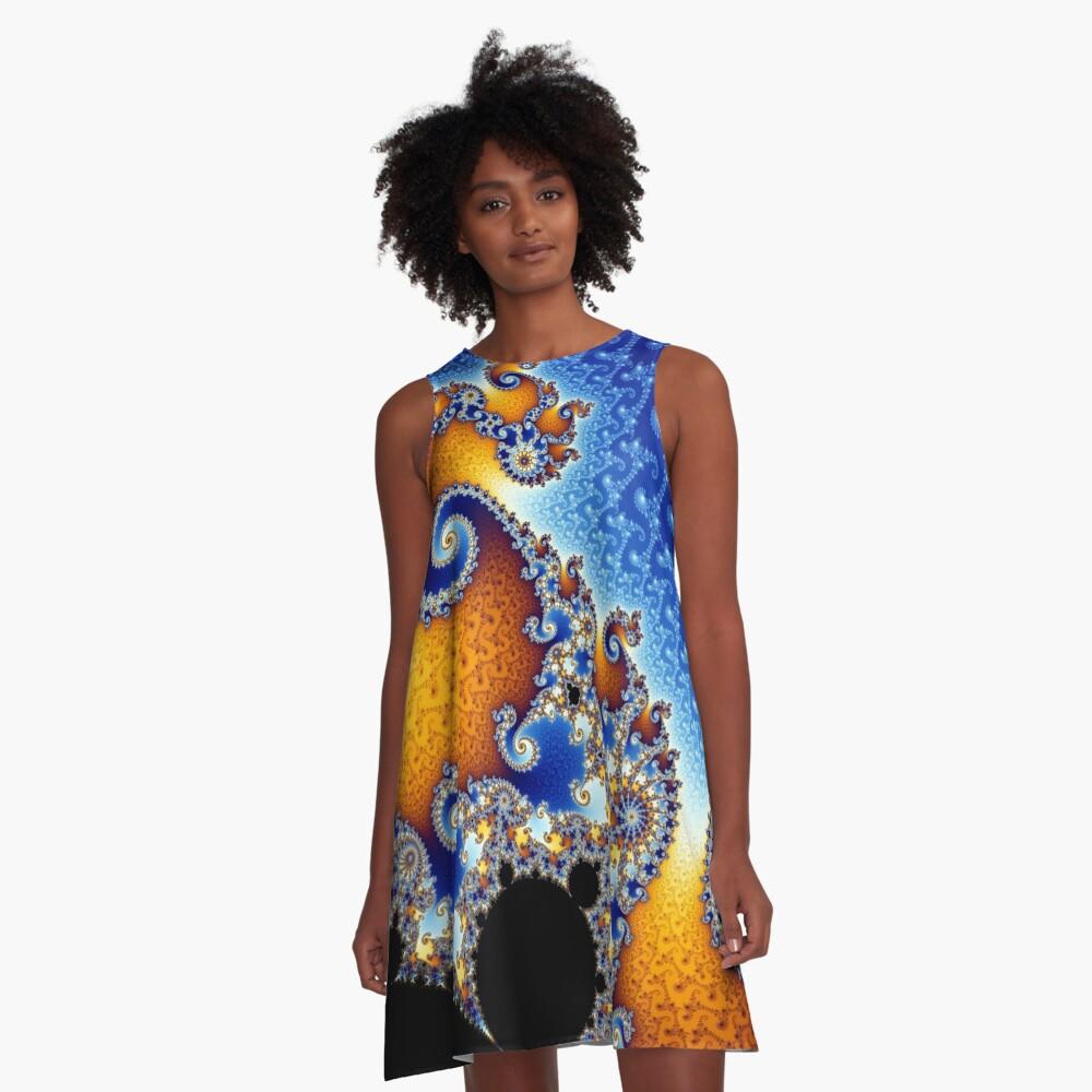 Mandelbrot set A-Line Dress