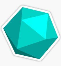 Light Blue D20 Sticker