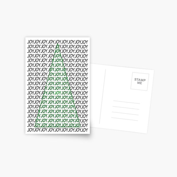 Joy Typography Christmas Tree Holiday Postcard