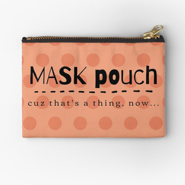 Mask Pouch - Orange Zipper Pouch